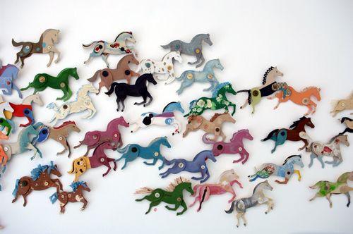 Ann Wood cardboard horses