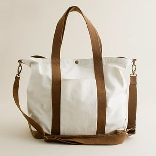 Jcrew canvas cargo tote