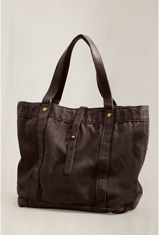 Lands end canvas 1963 washed leather tote
