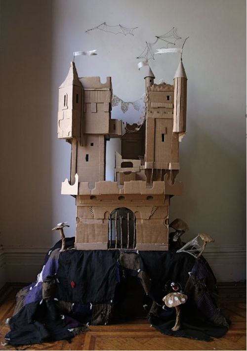 Ann Wood cardboard castle